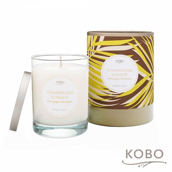 【KOBO】美國大豆精油蠟燭 - 薑芬香檳 (330g/可燃燒80hr) 精油、蠟燭、香氛、大豆蠟、手工、無毒、無煙