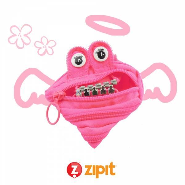 (5折出清)–Zipit 怪獸拉鍊包鋼牙版(小)-螢光粉 怪獸拉鍊包、零錢包