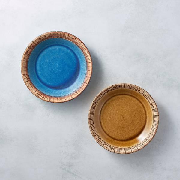 日本KOYO美濃燒 - 細雕紋小盤 - 雙件組 餐盤,陶盤,日本製,食器,手工,檢驗合格