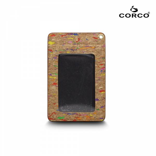 CORCO 直式軟木證件套 - 繽紛彩 (含掛繩) 軟木,韓國,環保