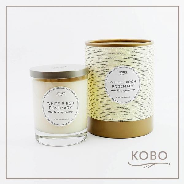 KOBO 美國大豆精油蠟燭 - 迷迭白樺 (330g/可燃燒80hr) 精油蠟燭、蠟燭