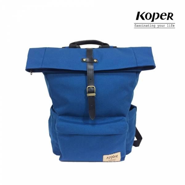 KOPER  心實袋系列 - 單扣休閒後背包-海洋藍  後背包、台灣設計製造