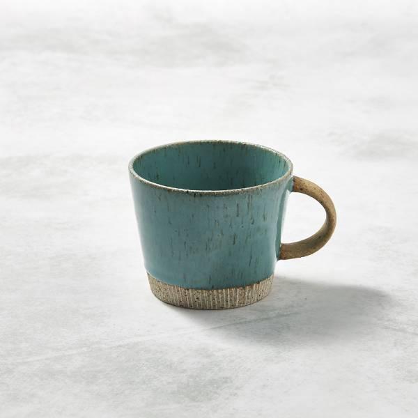 日本KOYO美濃燒- 細刻紋馬克杯 - 天藍 ★ 日本進口品質保證,檢驗合格餐具