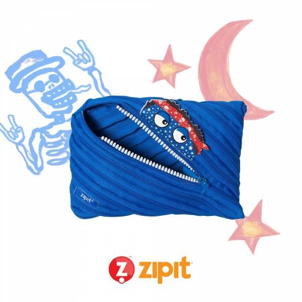 (5折出清)–Zipit Talking 對話怪獸拉鍊包-(大)藍 怪獸拉鍊包、筆袋、化妝包、隨身小包