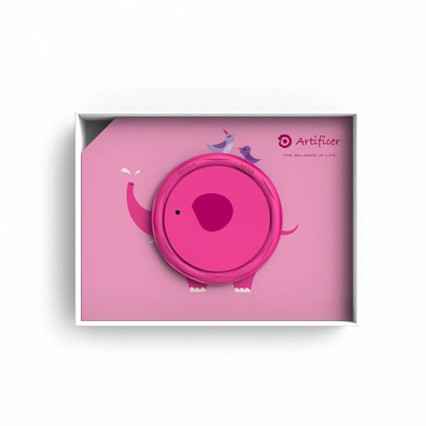 【Artificer】Rhythm for Kids 手環 - 大象 (桃紅) 3C,兒童,手環,飾品,天然礦物,健康,設計,生物電流,負離子,遠紅外線,安全,專利