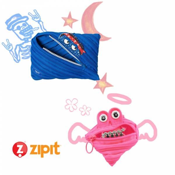 (4折出清)–Zipit 說說大怪帶小怪組(2件組) 怪獸拉鍊包、零錢包