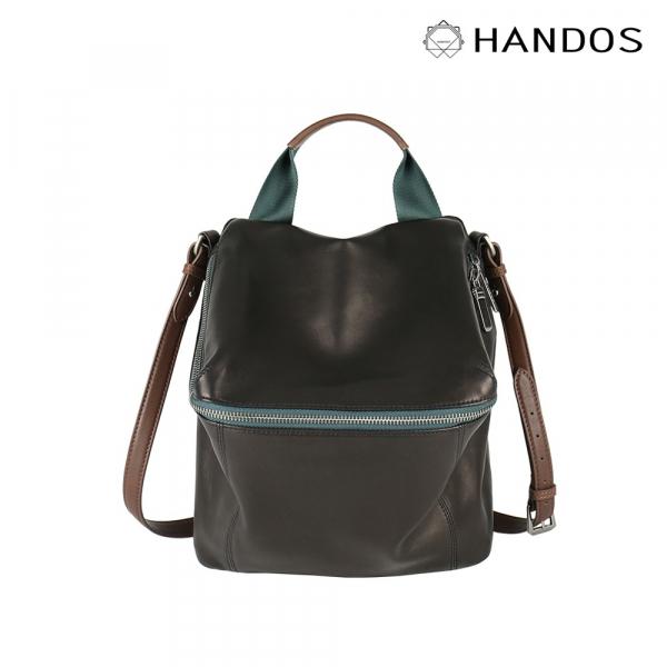 HANDOS|New Pimm's 輕便羊皮休閒肩背包 - 黑夜 V2 真皮,設計師,台灣設計,訂製五金,植鞣皮革