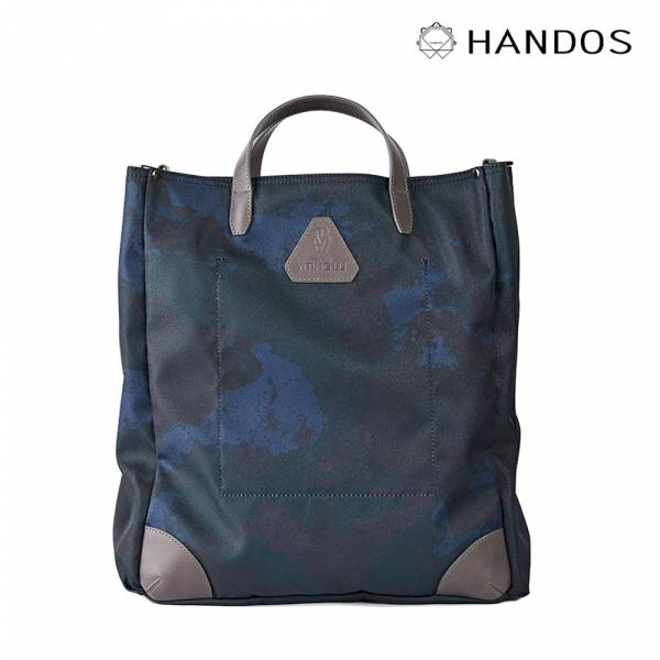 HANDOS|Old Pal 超輕帆布肩背手提托特包 - 沼澤藍 帆布,防水,真皮,設計師,台灣設計,訂製五金,植鞣皮革