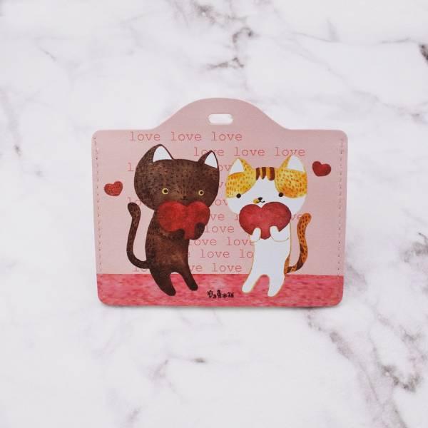 剪刀兔本鋪–證件套(橫式)–情人貓 卡套、悠遊卡套、可愛童趣