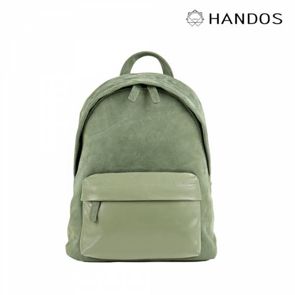 HANDOS|David 精緻輕便皮革後背包 - 灰綠↘74折 後背包,真皮,設計師,台灣設計,訂製五金,植鞣皮革