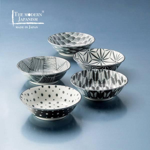 日本AWASAKA美濃燒- 小紋小缽組 (5件式)  日本,碗,造型碗,小碗,小缽