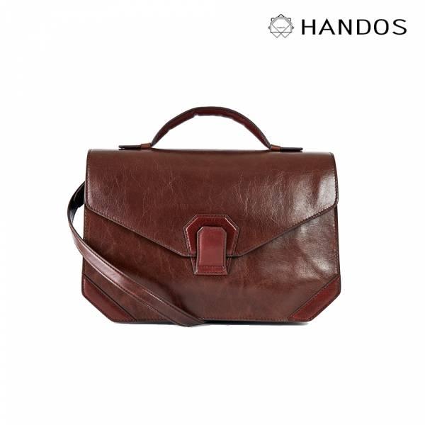 HANDOS|Acordeón 三折風琴肩背包 - 復古咖 真皮,設計師,台灣設計,訂製五金,植鞣皮革