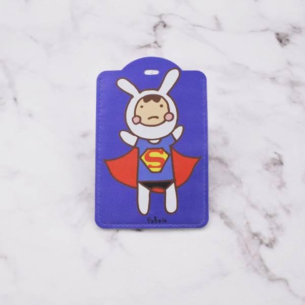 剪刀兔本鋪–證件套(直式)–兔子超人  卡套、悠遊卡套、可愛童趣