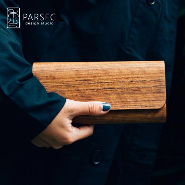 PARSEC|樹革柚木長夾 環保皮革,素食皮革,樹木,自然,手工,台灣製,環境友善