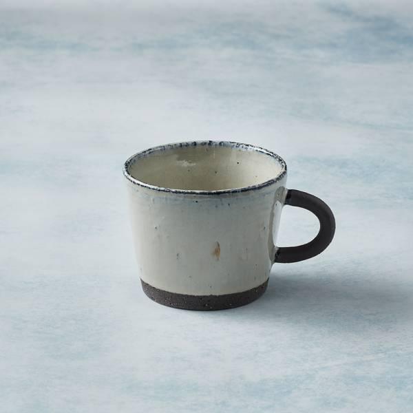日本KOYO美濃燒 - 寬口圓柄馬克杯 - 乳白 陶杯,日本製,食器,手工,檢驗合格