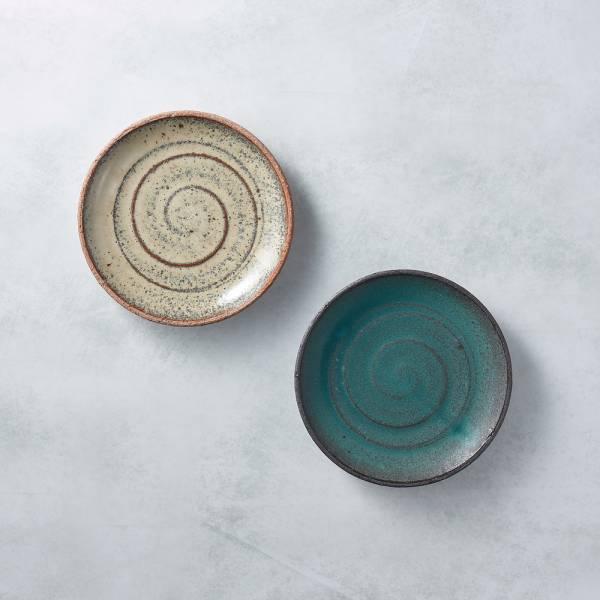 日本KOYO美濃燒 - 點心小盤 - 雙件組 餐盤,陶盤,日本製,食器,手工,檢驗合格