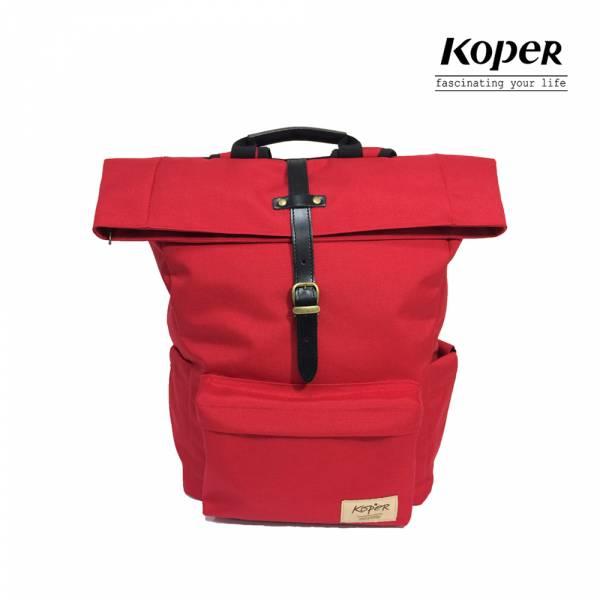 KOPER  心實袋系列 - 單扣休閒後背包-熱情紅 後背包、台灣設計製造