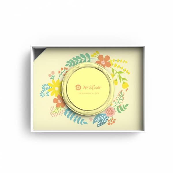 【Artificer】Rhythm for Kids 手環 - 小花 (粉黃) 3C,兒童,手環,飾品,天然礦物,健康,設計,生物電流,負離子,遠紅外線,安全,專利
