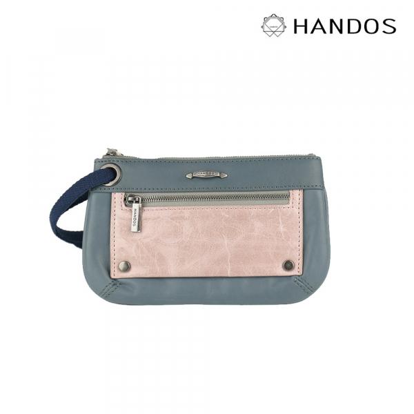 HANDOS|Bracelet 浪漫輕便手拿包 - 藍灰↘6折 復古,真皮,設計師,台灣設計,訂製五金,植鞣皮革