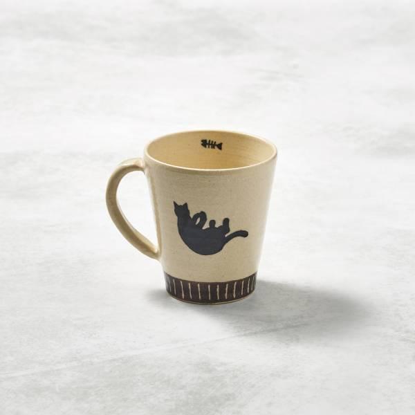 日本設計師系列 - 漂浮貓馬克杯 手繪,手作,職人,日本製,陶器,食器