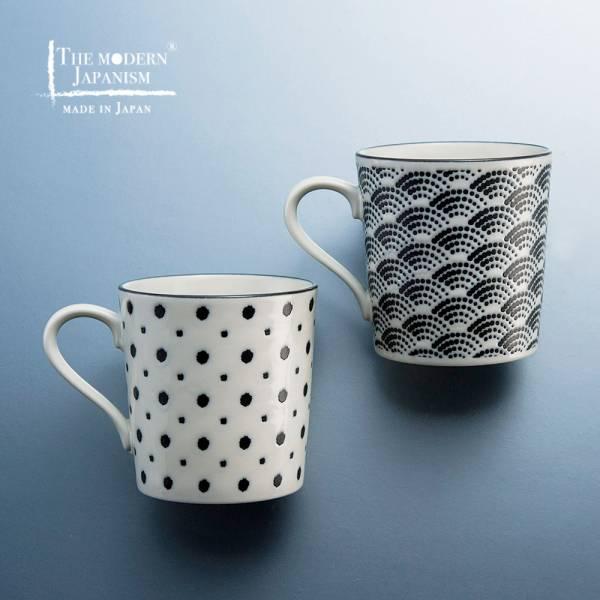 日本AWASAKA美濃燒- 小紋馬克對杯組 (2件式) 日本,馬克杯,水杯,茶杯