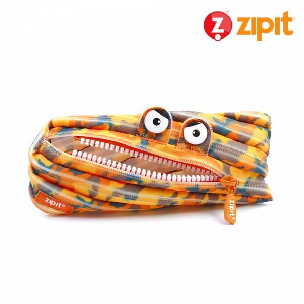 Zipit 怪獸拉鍊包迷彩系列(中)-迷彩橘 怪獸拉鍊包、零錢包