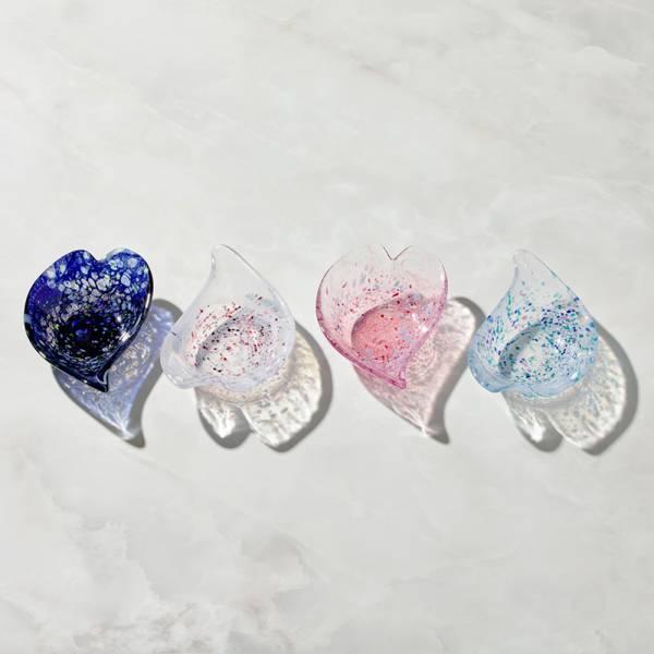 日本富硝子 - 手作浮世花舞小缽 - 任選兩件組 日本,玻璃,盤,餐具組