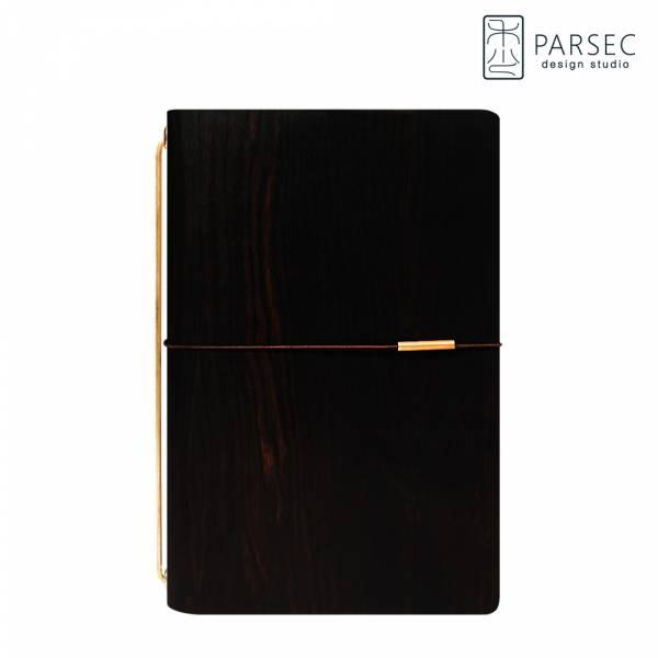 PARSEC|樹革正黑檀手帳  環保皮革,樹革,自然,手工,台灣製