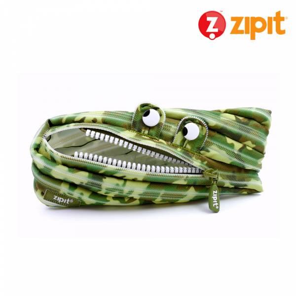 Zipit 怪獸拉鍊包迷彩系列(中)-迷彩綠 怪獸拉鍊包、零錢包