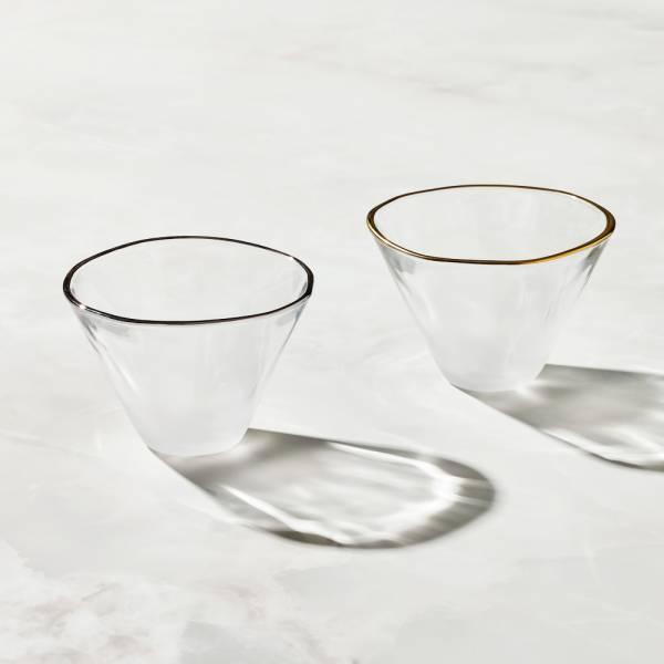 日本富硝子 - 富士山大清酒杯 - 鉑金對杯組 (2件式) - 禮盒組 (180ml) 日本,玻璃,玻璃杯,飲料杯,酒杯,清酒杯
