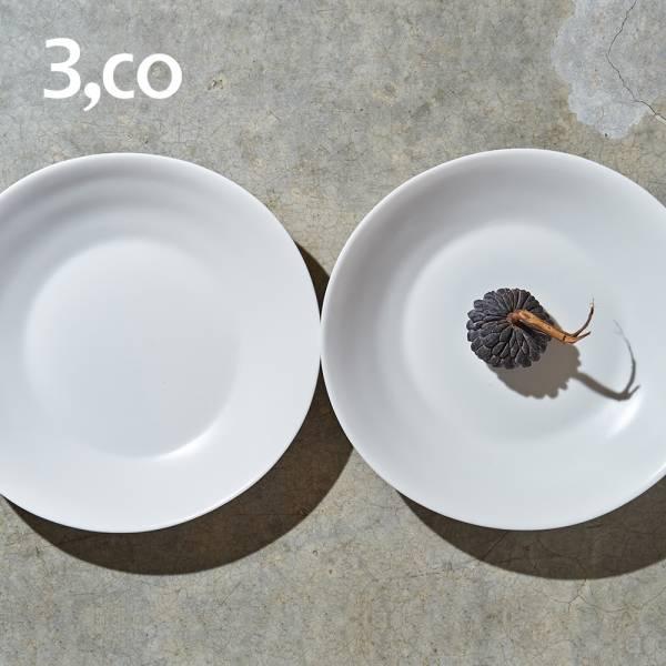 【3,co】水波沙拉盤(2件式) - 白+白 沙拉,碟,盤,水波,餐具,食器,米其林,當代,國際,台灣之光,台灣,原創,設計,簡約,生活美學,空間,瓷器,東方意象,驚豔,精品,禮物,禮品,送禮