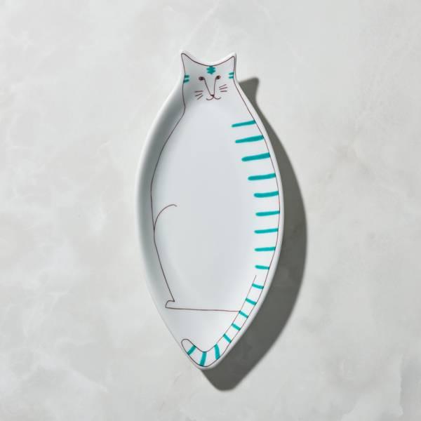 日本晴九谷燒 - 貓大盤 - 虎斑貓 ★ 全部日本原裝精緻禮盒,送禮適宜