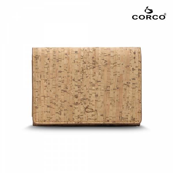 CORCO 雙摺軟木名片夾 - 原棕色 軟木,韓國,環保
