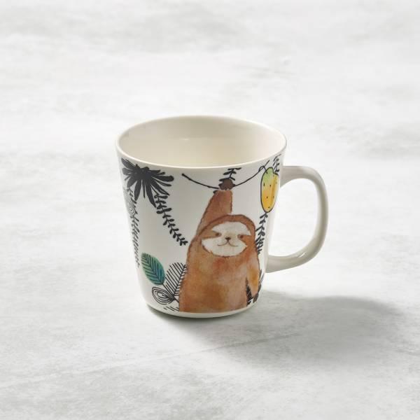 日本澤藍美濃燒 - 萌之系列馬克杯-樹懶伸懶腰 陶杯,日本製,食器,手工,檢驗合格,動物,茶杯,馬克杯
