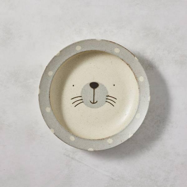 日本AWASAKA美濃燒- 憨憨海豹深盤 (22.5cm) 日本,盤,餐具組
