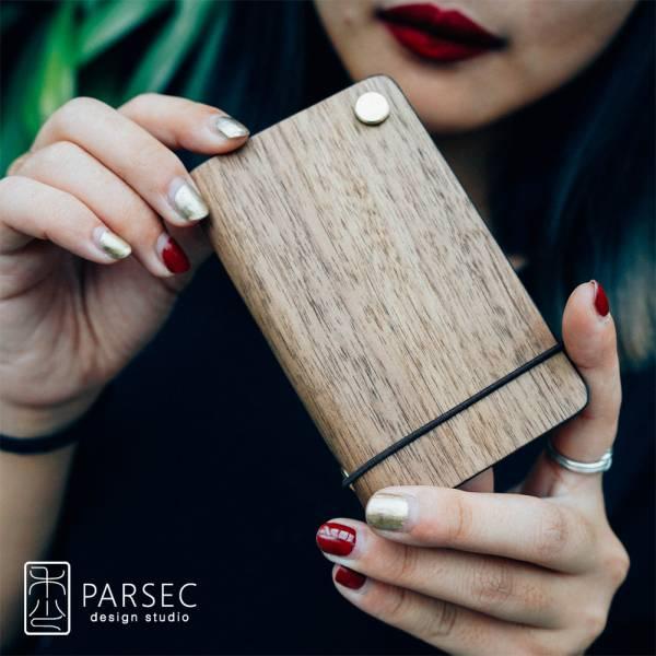 PARSEC|樹革胡桃旋轉卡套 環保皮革,樹革,自然,手工,台灣製