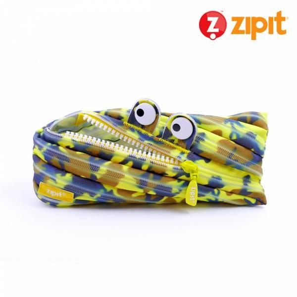 Zipit 怪獸拉鍊包迷彩系列(中)-迷彩黃 怪獸拉鍊包、零錢包
