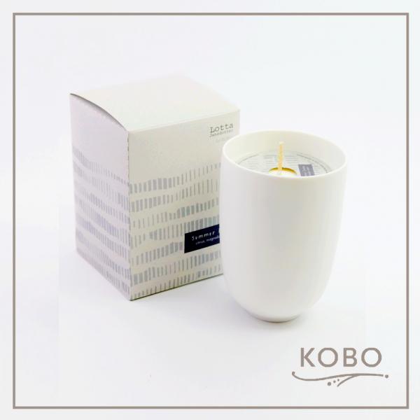 KOBO 美國大豆精油蠟燭 - 夏日亞麻(330g/可燃燒70hr) 精油,蠟燭,香氛,天然,環保,大豆蠟,設計師,北歐,簡約,插畫