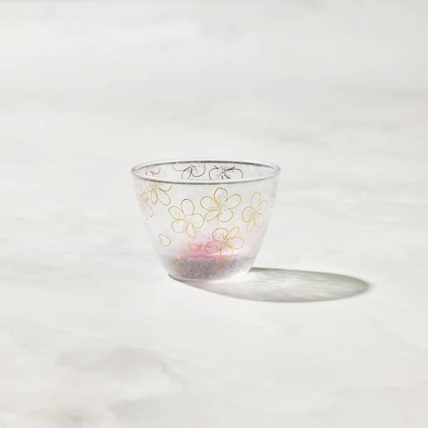 日本富硝子 - 私藏霧面小酌杯 - 渲染紅櫻 (90ml) 日本,玻璃,玻璃杯,飲料杯,酒杯,清酒杯