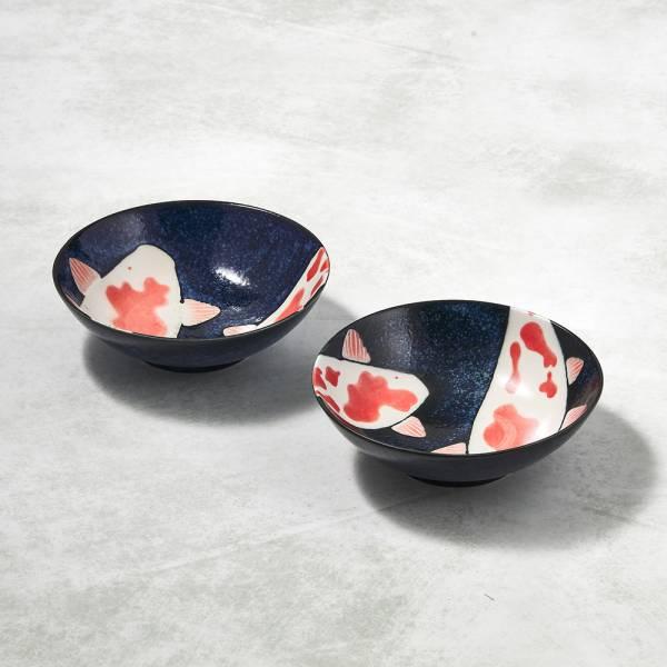 日本AWASAKA美濃燒- 彩鯉釉染小碗成雙組 ★ 剛剛好的份量,剛剛好的精緻生活