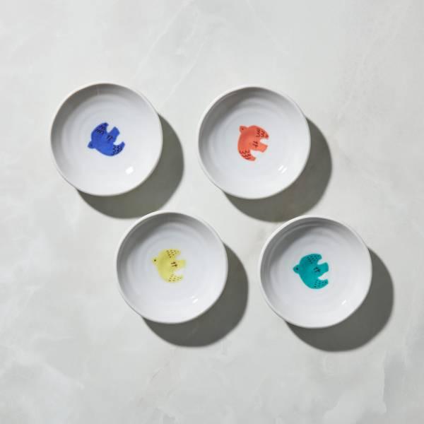 日本晴九谷燒 - 飛鳥小盤(4入組)  ★ 全部日本原裝精緻禮盒,送禮適宜