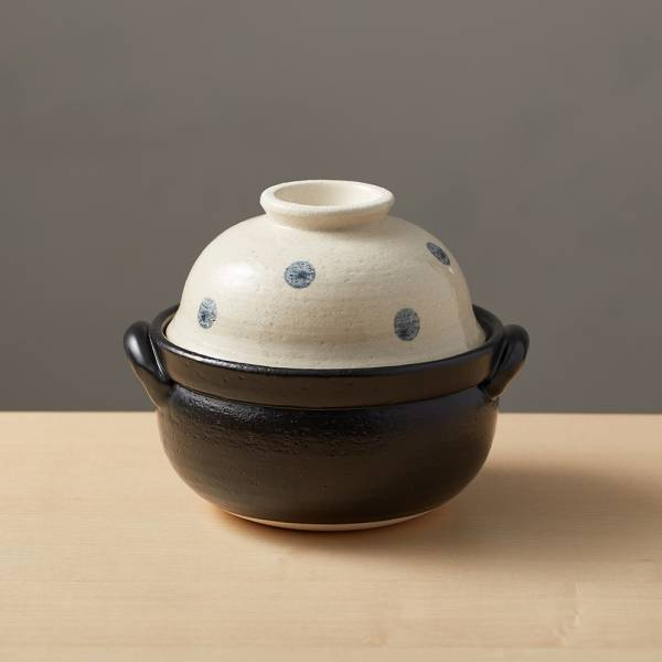 日本萬古燒-兩用蓋碗土鍋-水玉點點(1.1L) 日本,原裝進口,陶鍋,土鍋,主婦必備,直火,遠紅外線,保留原味,多用,蓄熱,節能