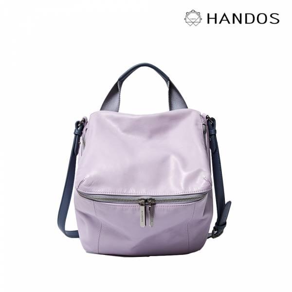 HANDOS|New Pimm's 輕便羊皮休閒肩背包 - 粉紫 真皮,設計師,台灣設計,訂製五金,植鞣皮革