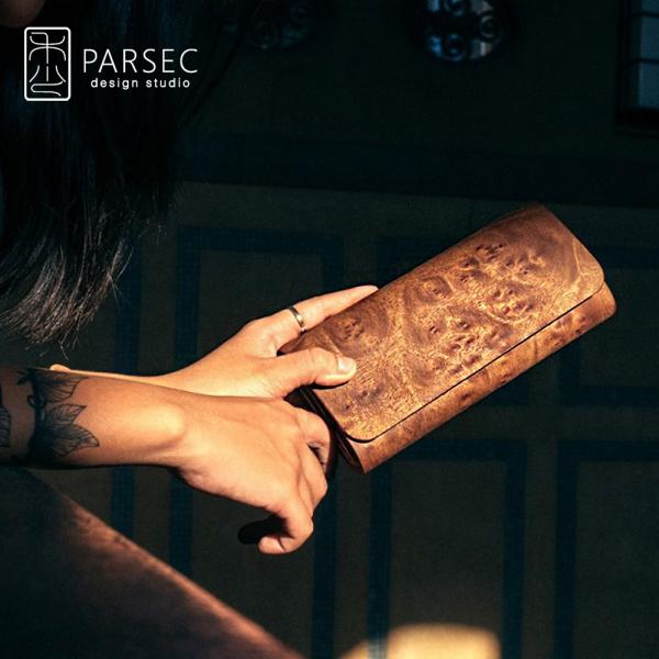 PARSEC|樹革花樟長夾 環保皮革,素食皮革,樹木,自然,手工,台灣製,環境友善