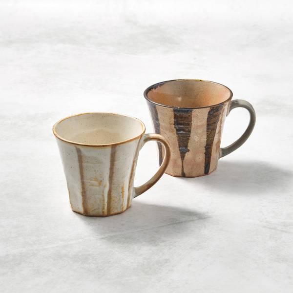 日本KOYO美濃燒- 寬耳馬克杯 - 對杯組(2件式) ★ 日本進口品質保證,檢驗合格餐具