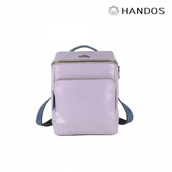 HANDOS|Cosmopolitan 輕巧羊皮時尚後背包 - 粉紫↘76折 後背包,真皮,設計師,台灣設計,訂製五金,植鞣皮革
