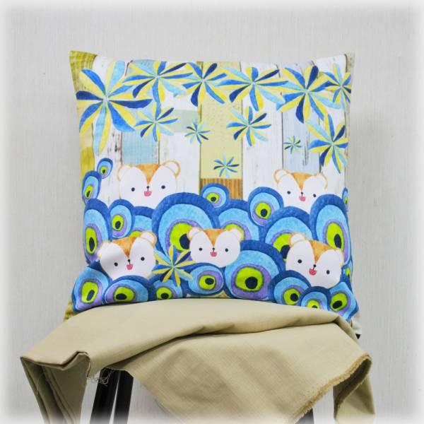 剪刀兔本鋪–抱枕套–小咪鼠躲迷藏 枕頭套、寢具、可愛童趣