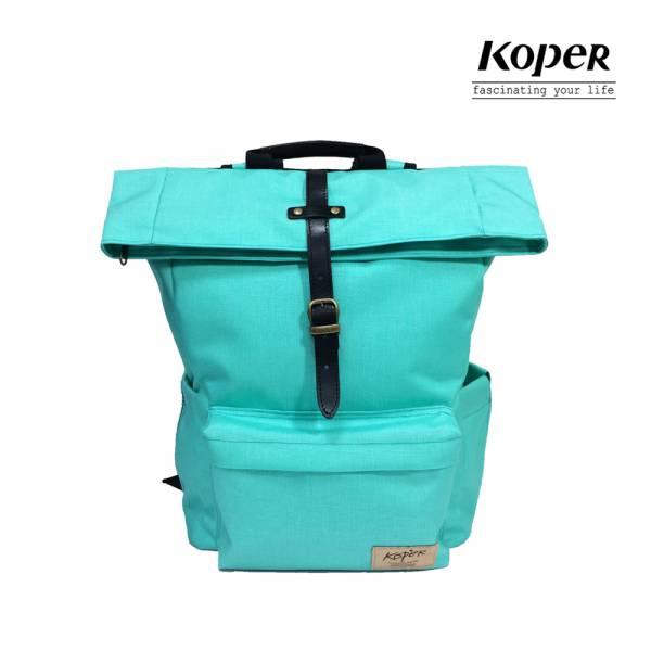 KOPER  心實袋系列 - 單扣休閒後背包-馬卡龍綠 後背包、台灣設計製造