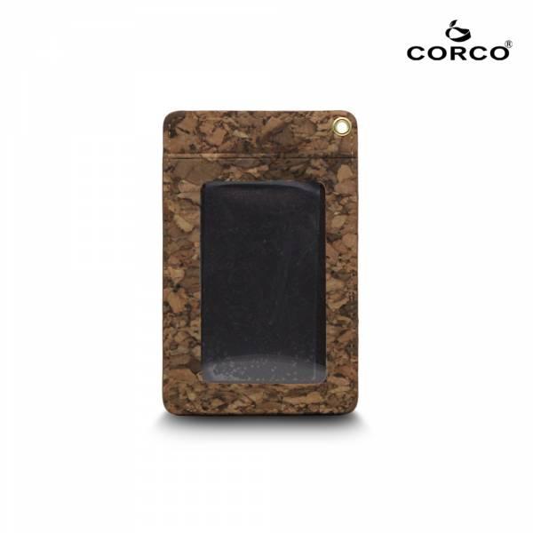 CORCO 直式軟木證件套 - 塊紋棕 (含掛繩) 軟木,韓國,環保