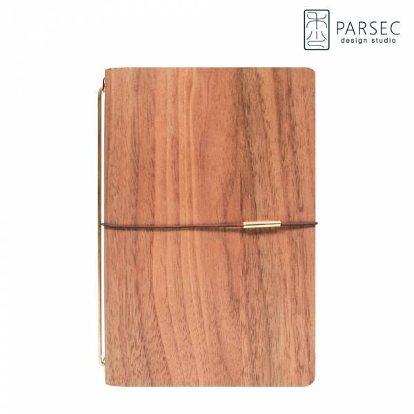 PARSEC|樹革胡桃手帳 環保皮革,樹革,自然,手工,台灣製
